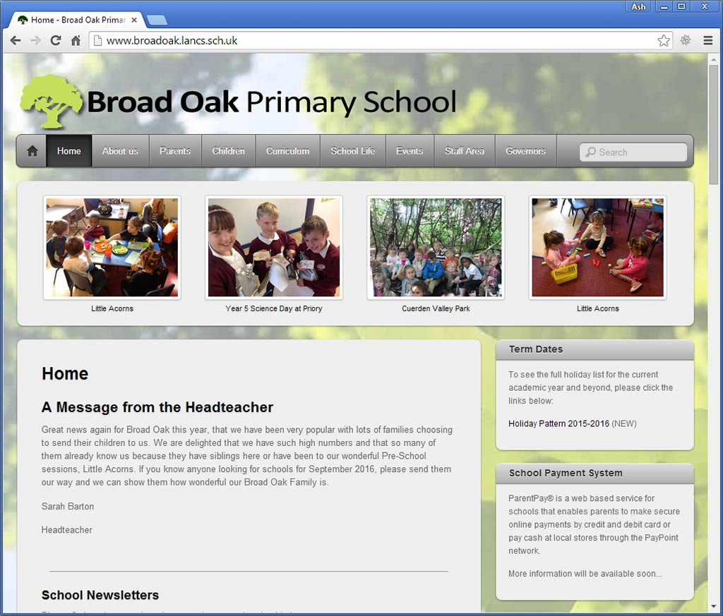 Broad Oak Primary School Penwortham website
