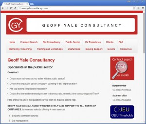 Geoff Yale Consultancy website
